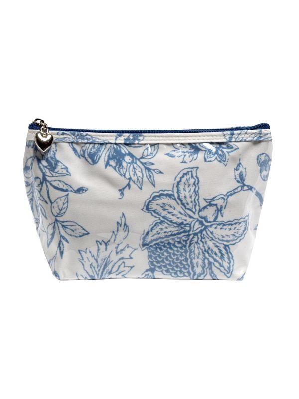 Cosmetic Bag (Small), Pineapple Garden (Blue) - DN300-PGBL