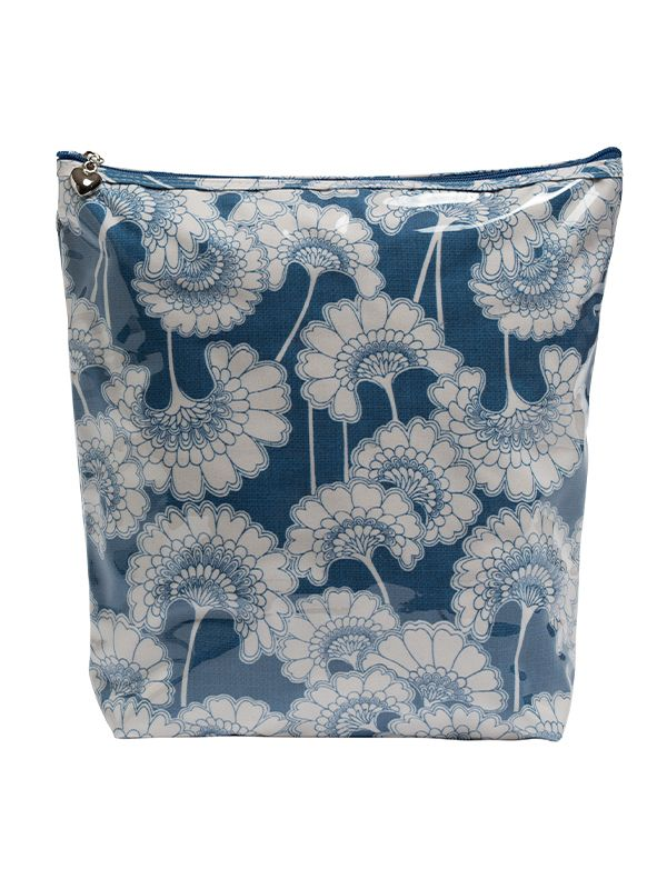 Cosmetic Bag (Large), Blue Fans - DN302-BLF