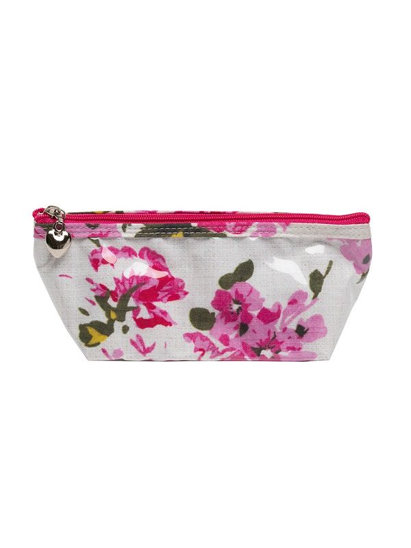 xsmall magenta blossom cosmetic bag