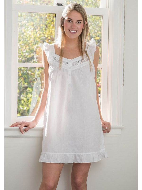 April White Cotton Nightgown** - EL335