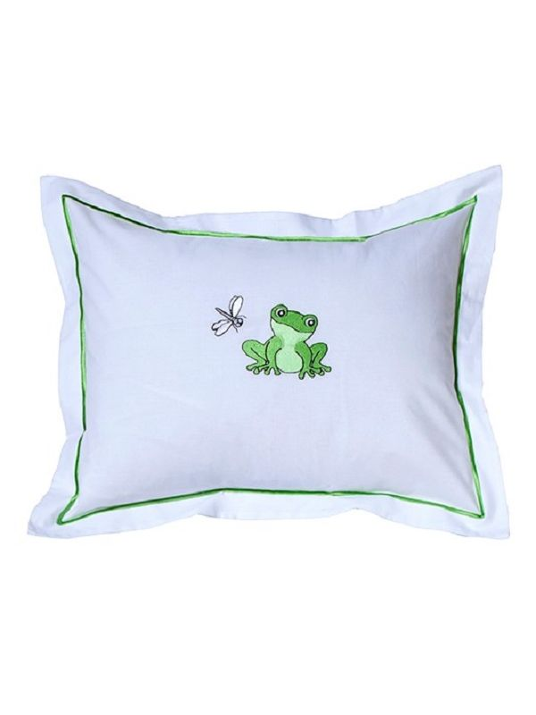 Baby Boudoir Pillow Cover, Frog & Dragonfly (Green) - DG81-FADF
