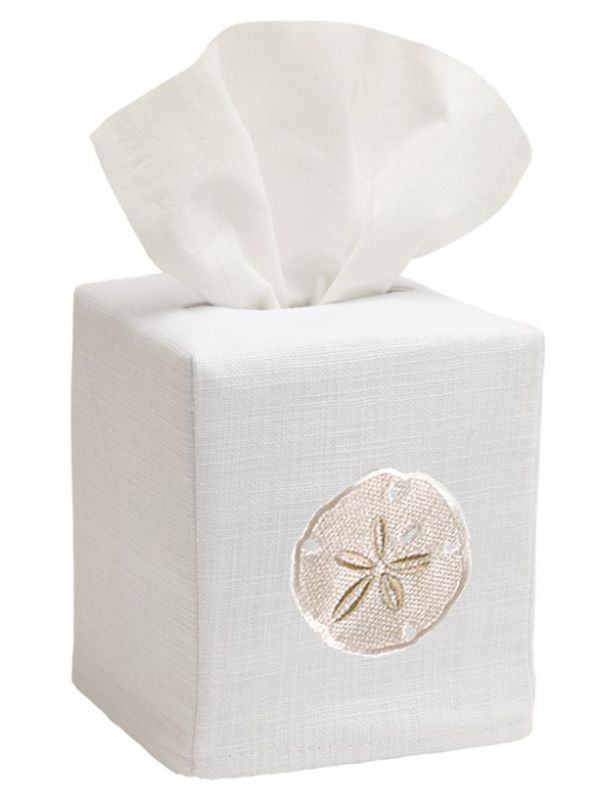 DG17-SDBE** Tissue Box Cover - Sand Dollar (Beige)