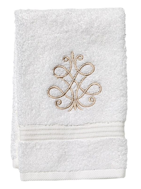 DG70-FSBE** Guest Towel, Terry - French Scroll (Beige)