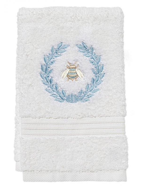 Guest Towel, Terry, Napoleon Bee Wreath (Duck Egg Blue) - DG70-NBWDE**