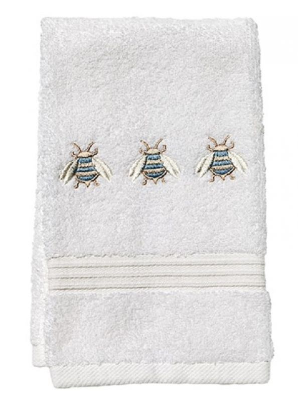 Guest Towel, Terry, Three Napoleon Bees (Duck Egg Blue) - DG70-TNBDE**