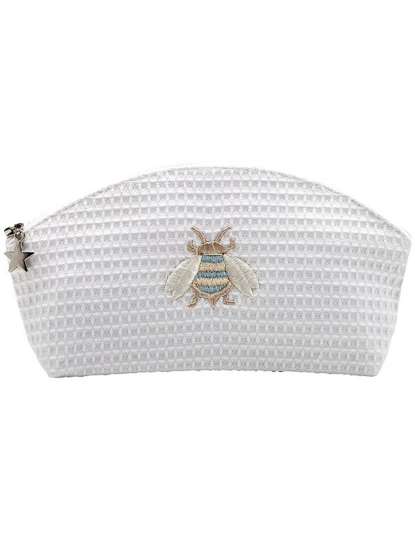 Cosmetic Bag (Small), Napoleon Bee (Duck Egg Blue) - DG10-NBDE