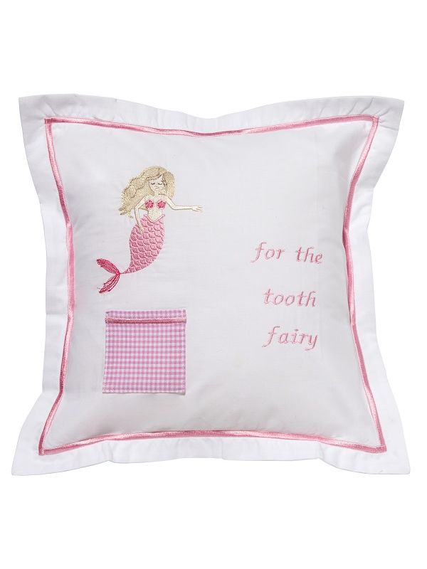Tooth Fairy Pillow Cover, Mermaid (Pink) - DG131-MMPK