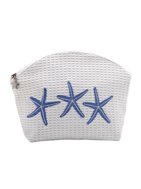 DG01-TSFBL Cosmetic Bag (Medium) - Three Starfish (Blue)