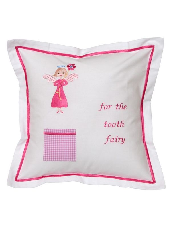Tooth Fairy Pillow Cover, Flower Angel (Pink) - DG131-FA