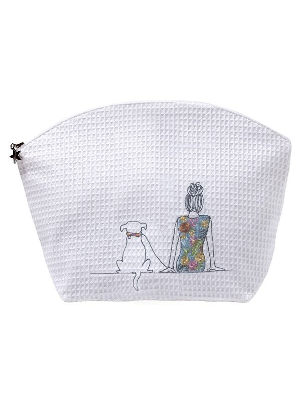 DG07-GAD Cosmetic Bag (Large) - Girl & Dog