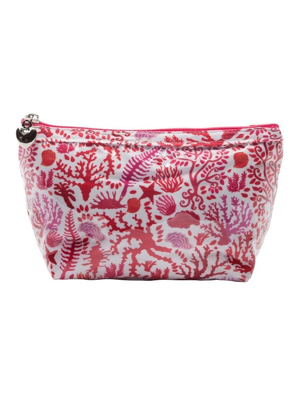Cosmetic Bag (Small), Seashells (Coral) - DN300-SSCL