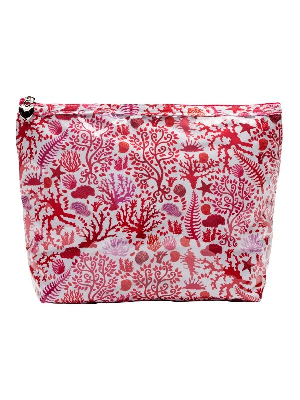 Cosmetic Bag (Medium), Seashells (Coral) - DN301-SSCL