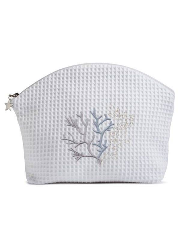 DG07-CLDE** Cosmetic Bag (Large) - Coral (Duck Egg Blue)