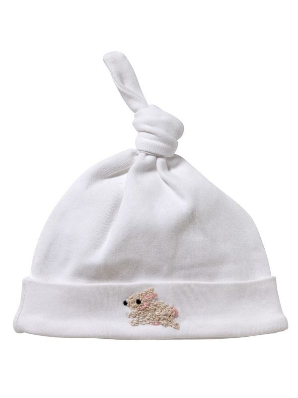 Knotted Hat, Bunny (Cream/Pink) - RW37-BUCRP**