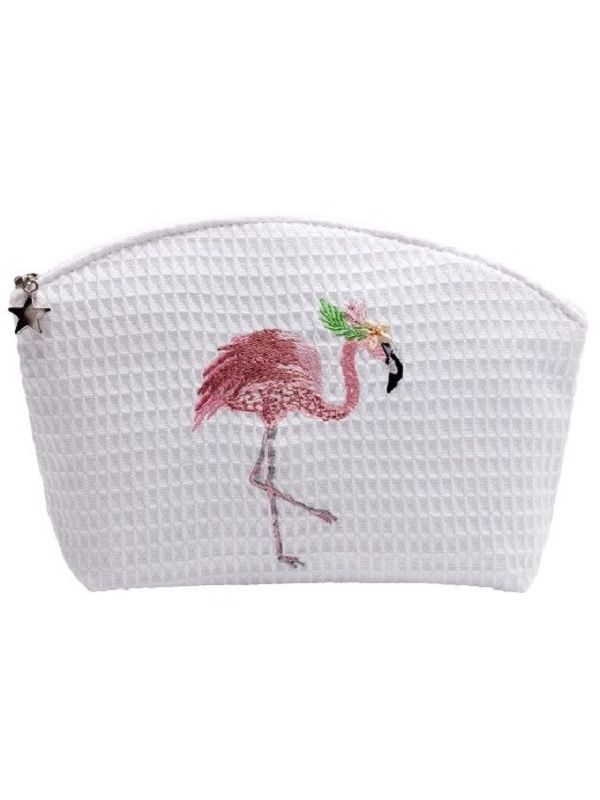 Cosmetic Bag (Medium), Fancy Flamingo (Pink) - DG01-FFOPK