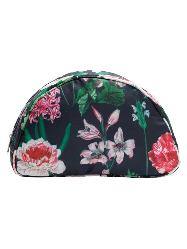 Cosmetic Bag (Large), Peony (Black) - RH113-PBK