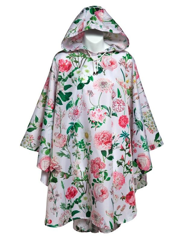 Poncho In A Bag, Peony Design (Pink) - RH126-PPK