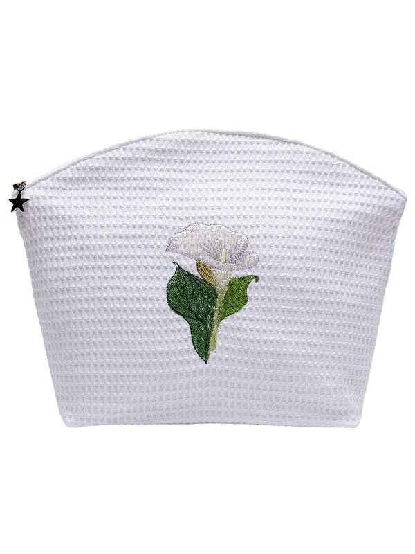 DG07-CALWH** Cosmetic Bag (Large) - Calla Lily (White)