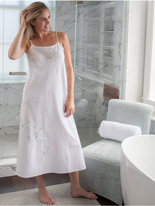 Jane White Cotton Nightgown** - EL330
