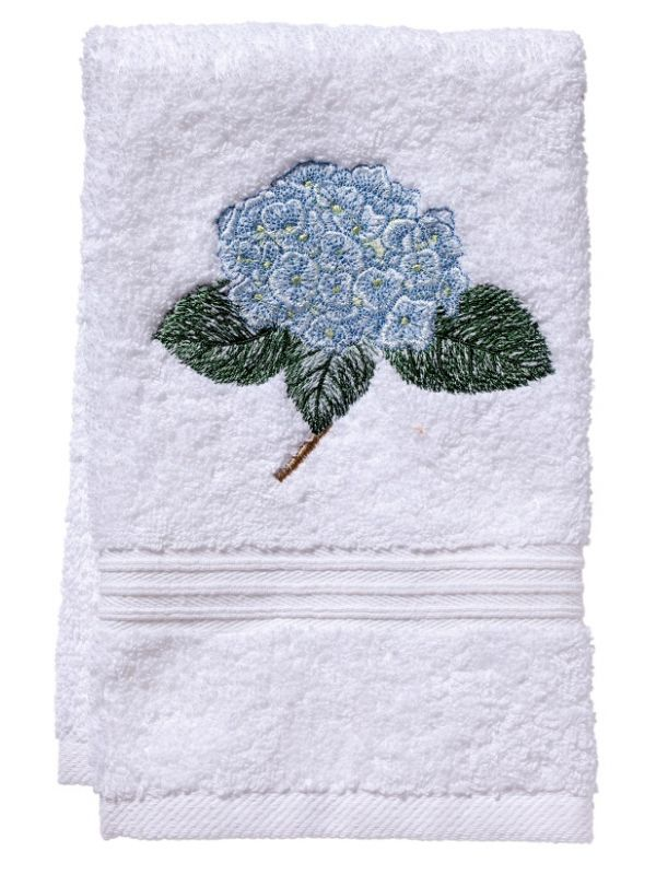 Guest Towel, Terry, Hydrangea Too (Light Blue) - DG70-HYDTLB
