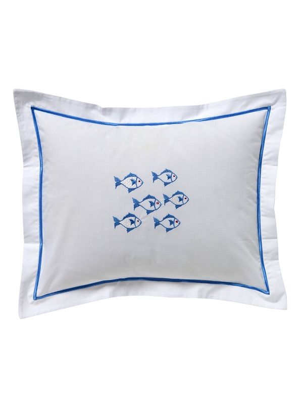 DG78-SOFBL Boudoir Pillow Cover - School of Fish (Blue)
