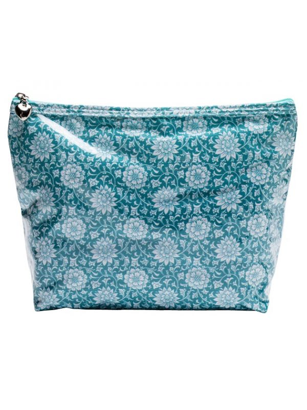 Cosmetic Bag (Medium), Gerbera (Aqua) - DN301-GBAQ