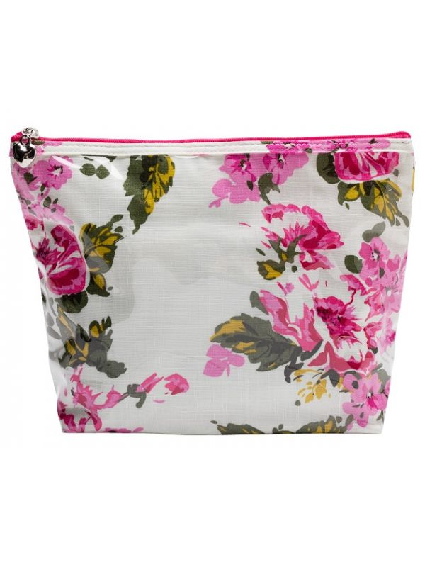 Cosmetic Bag (Medium), Magenta Blossom - DN301-MB
