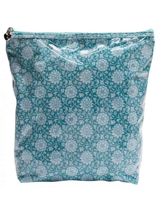 Cosmetic Bag (Large), Gerbera (Aqua) - DN302-GBAQ