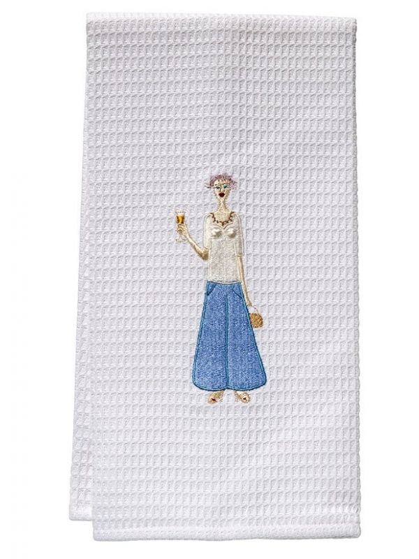Guest Towel, Waffle Weave, Champagne Lady (Blue) - DG03-CHLBL