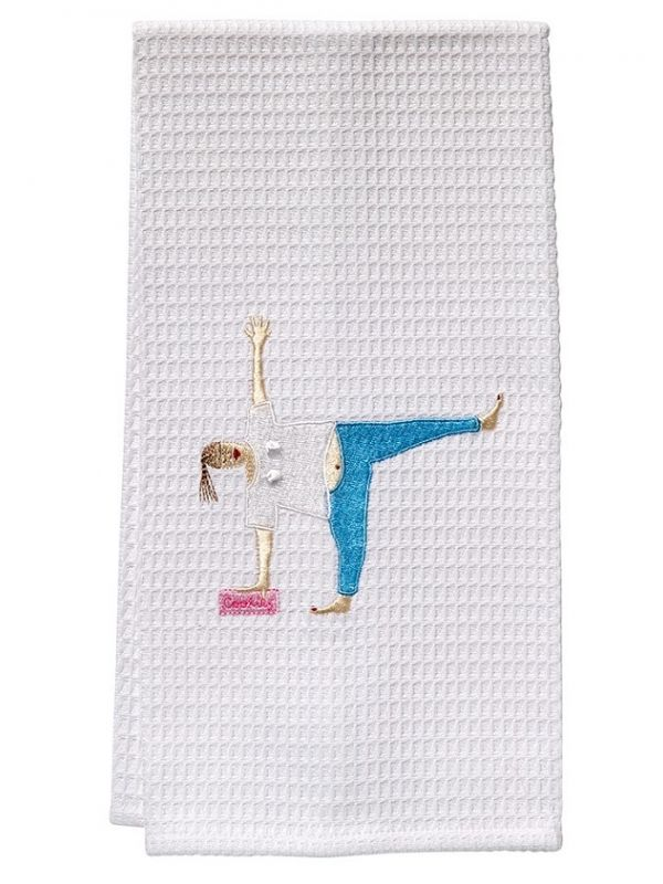 Guest Towel, Waffle Weave, Yoga Cookies Lady - DG03-YCL