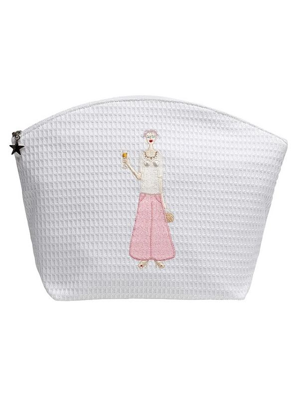 DG07-CHLPK Cosmetic Bag (Large) - Champagne Lady (Pink)