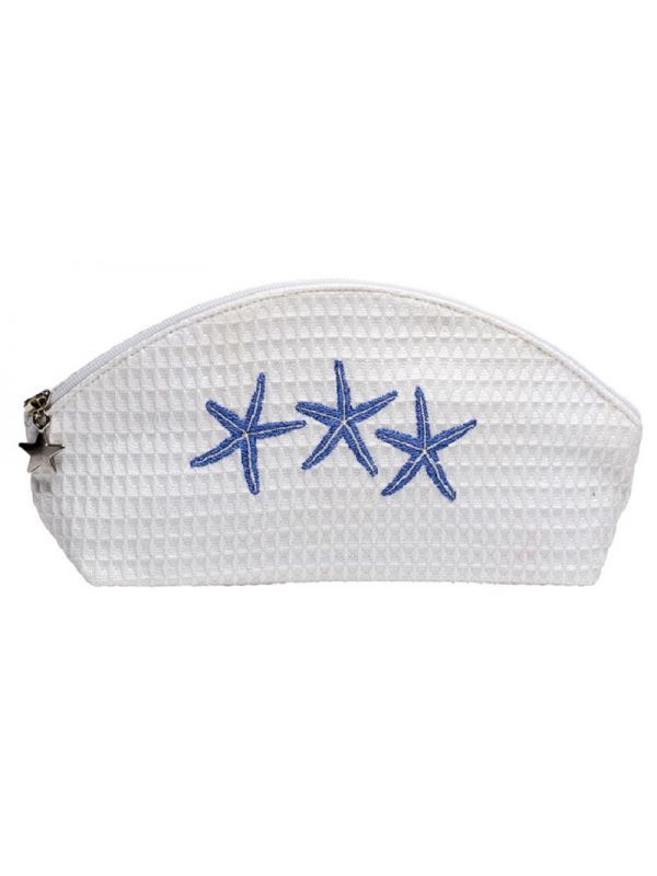 DG10-TSFBL** Cosmetic Bag (Small) - Three Starfish (Blue)