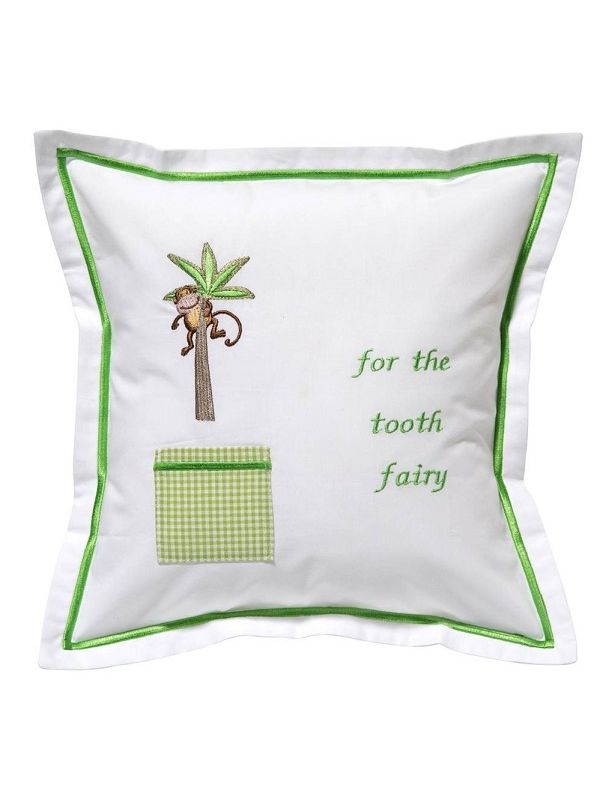 DG131-MIPT Tooth Fairy Pillow Cover - Monkey in Palm Tree