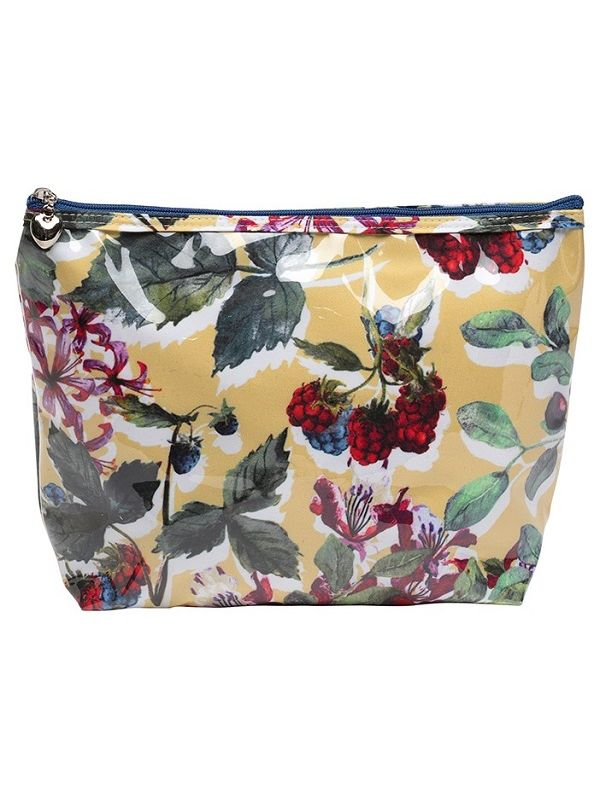 Cosmetic Bag (Medium), Berry (Floral) - DN301-BFL
