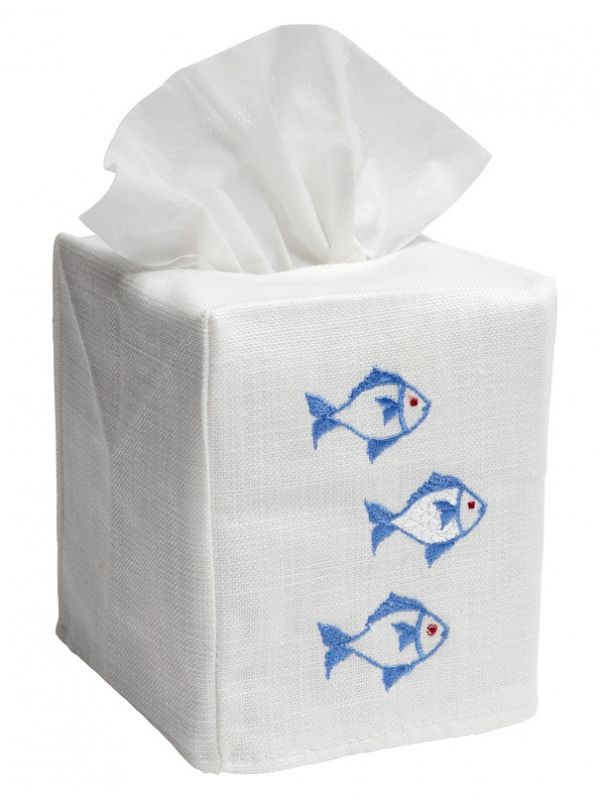 Tissue Box Cover, School of Fish (Blue) - DG17-SOFBL