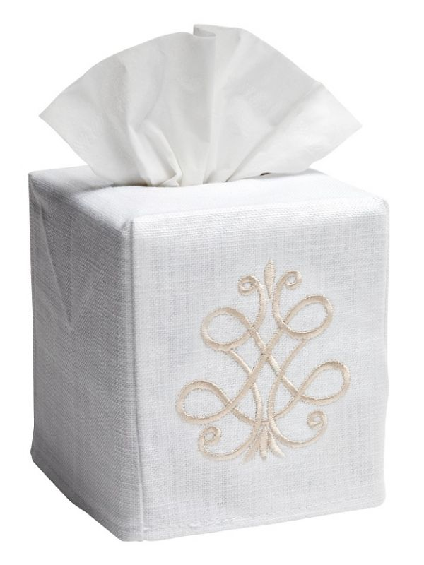 DG17-FSBE** Tissue Box Cover - French Scroll (Beige)