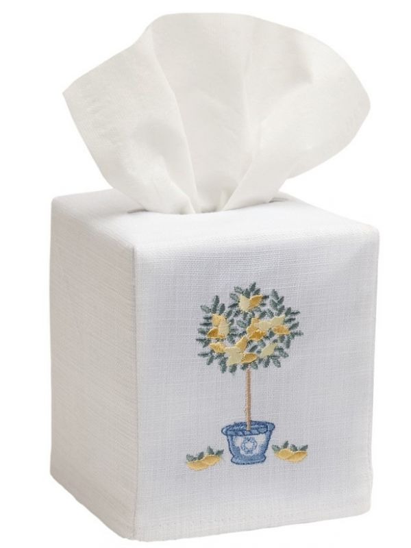DG17-LTTT** Tissue Box Cover - Lemon Topiary Tree