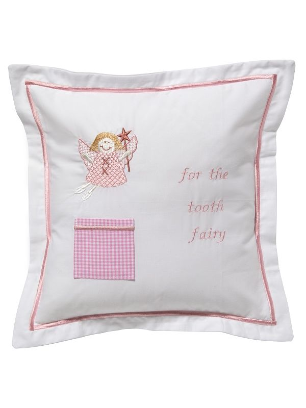 Tooth Fairy Pillow Cover, Funky Fairy (Pink) - DG131-FUFPK