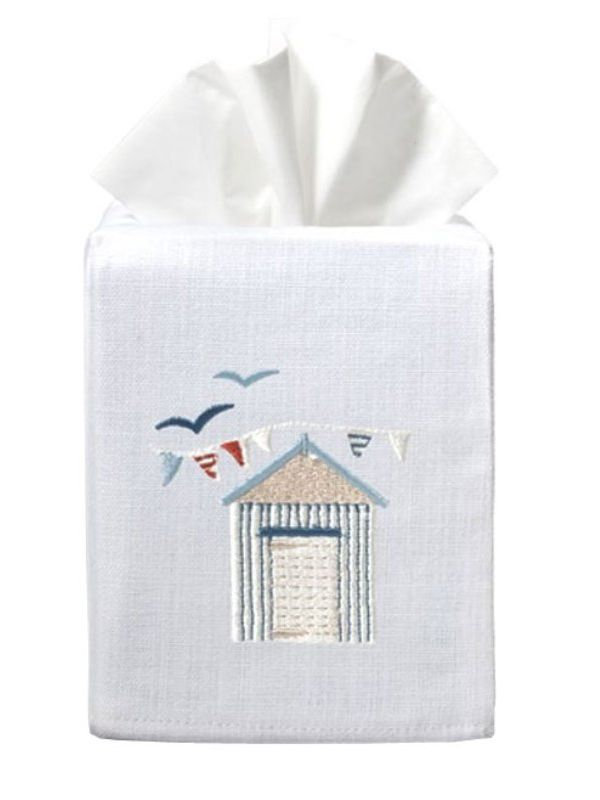 DG17-BH Tissue Box Cover, Linen Cotton - Beach House