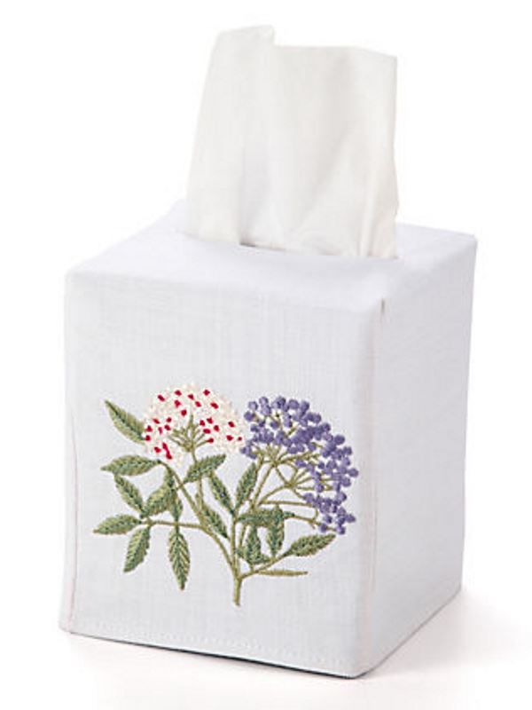 DG17-EDBW** Tissue Box Cover - Elderberry (Blue / White)