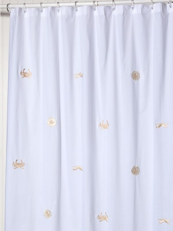 Shower Curtain, Cotton Percale, Sea Life (Beige) - LG72-SLBE**