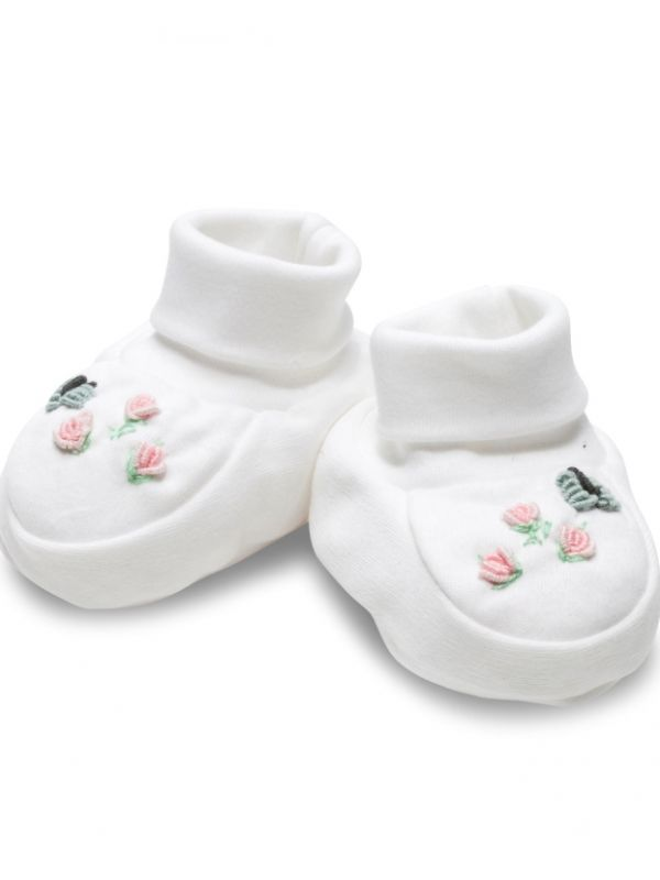 Booties, (Rosebuds and Butterfly) - RW33-RABF**