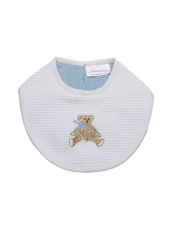 Bib, Bow Teddy (Blue) - DG133-BTB