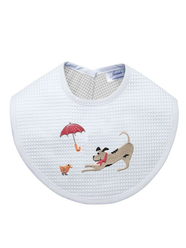 Bib, Dog, Umbrella, Duck (Beige) - DG133-DUDBE