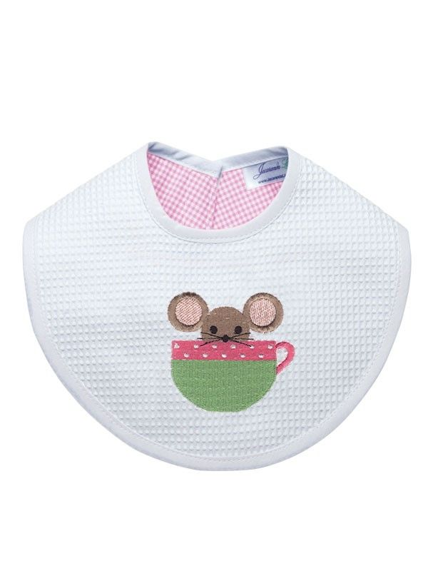 Bib, Mouse in Cup (Pink) - DG133-MICP**