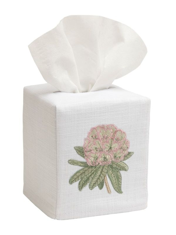 DG17-HYPK Tissue Box Cover, Linen Cotton - Hydrangea (Pink)