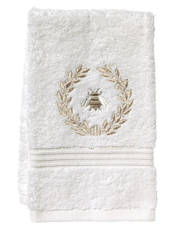 Guest Towel, Terry, Napoleon Bee Wreath (Beige) - DG70-NBWBE**