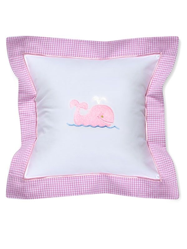 DG136-WP Baby Pillow Cover - Whale (Pink)**