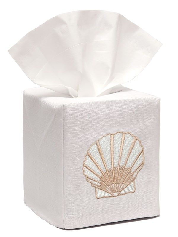 DG17-SCBE Tissue Box Cover - Scallop (Beige)