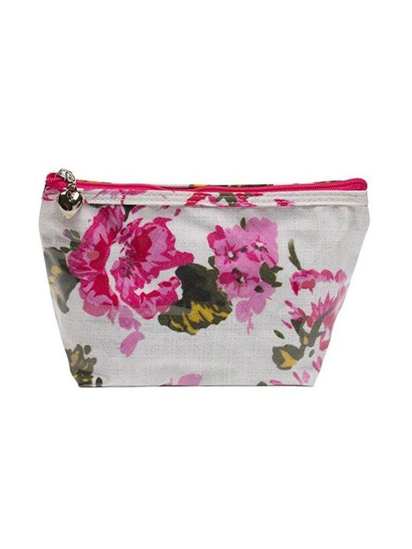 Cosmetic Bag (Small), Magenta Blossom - DN300-MB